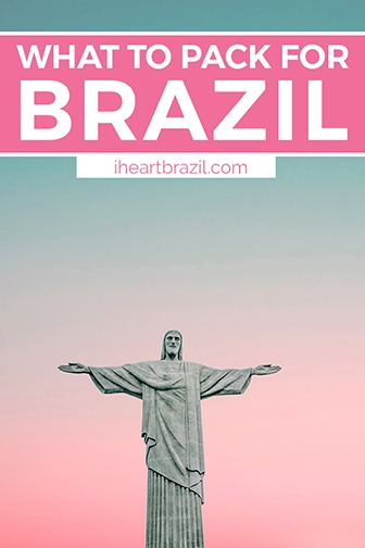 Brazil packing list Pinterest graphic