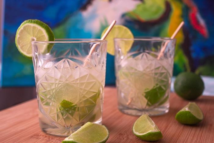 Caipirinha drink, the national cocktail of Brazil