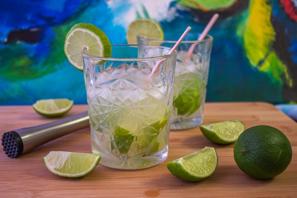 Caipirinha drink, the national cocktail of Brazil
