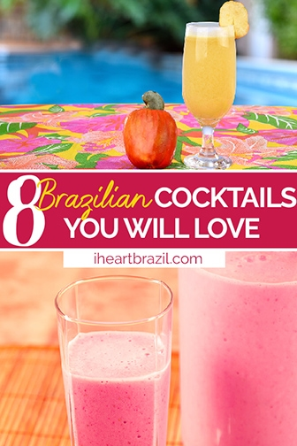 Brazilian cocktails Pinterest graphic