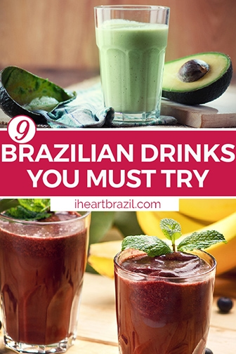 Brazilian drink Pinterest graphic