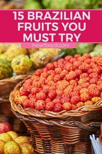 Brazilian fruits Pinterest graphic