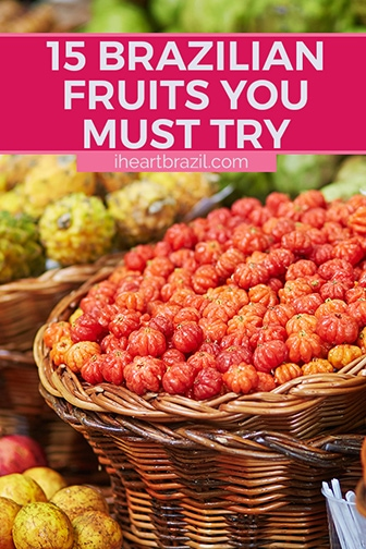 Brazilian fruits Pinterest graphic