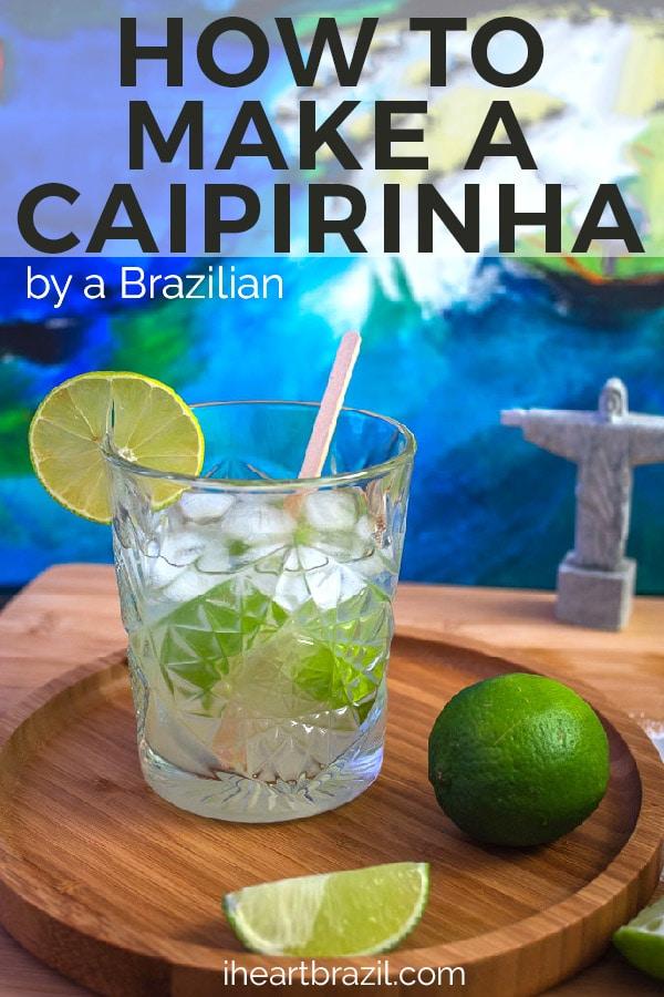 Caipirinha recipe Pinterest graphic