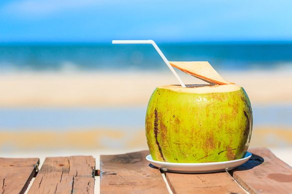 Drink coconut water in Brazil