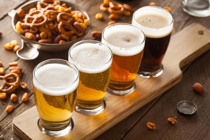 Beer in a bar in Brazil