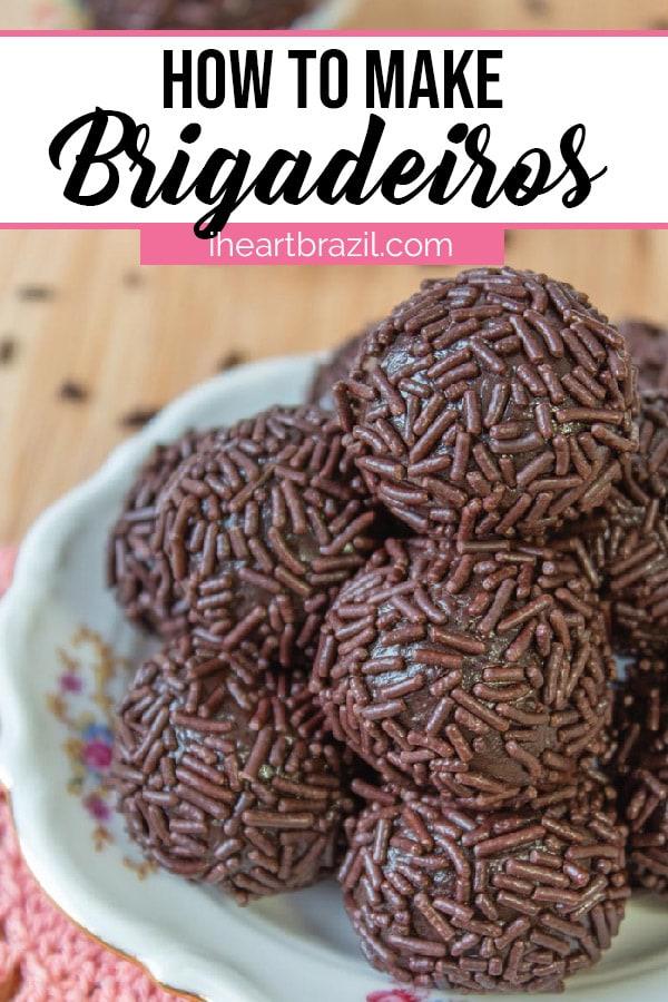 Brigadeiro recipe Pinterest graphic