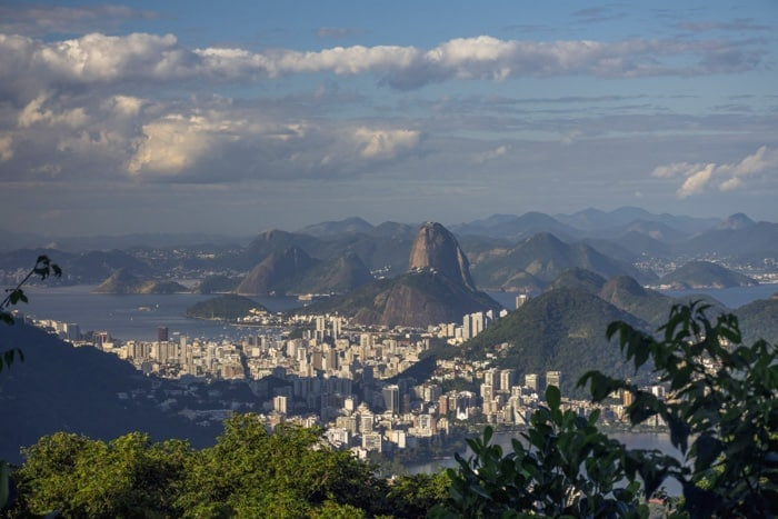 Vista from Chinese View in Rio de Janeiro