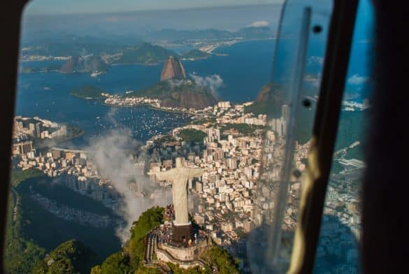Helicopter tour over Christ the Redeemer Statue is one of the top things to do in Rio de Janeiro