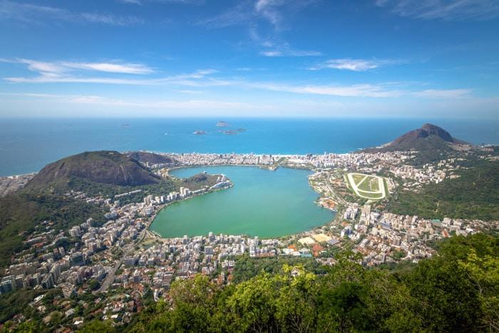 Rodrigo de Freitas and Two Brothers Hill in Rio de Janeiro