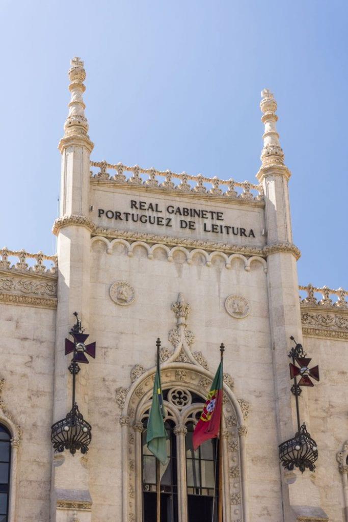 Façade of the Royal Portuguese Reading Room in Rio de Janeiro