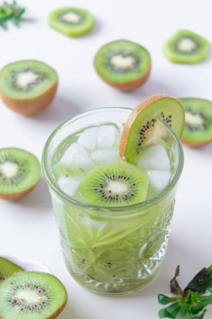 Brazilian sake cocktail with kiwi