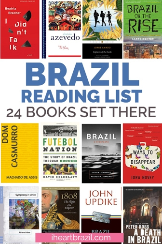 Books about Brazil Pinterest graphic