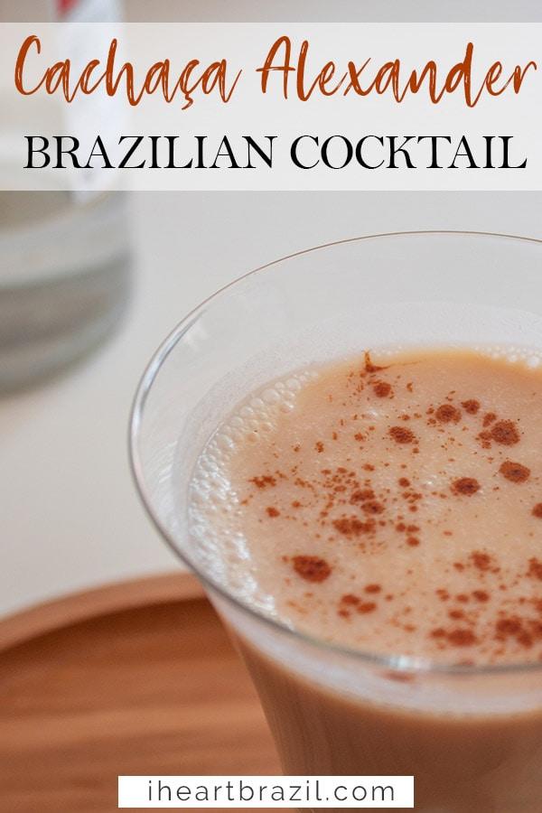 Brazilian Alexander cocktail Pinterest graphic