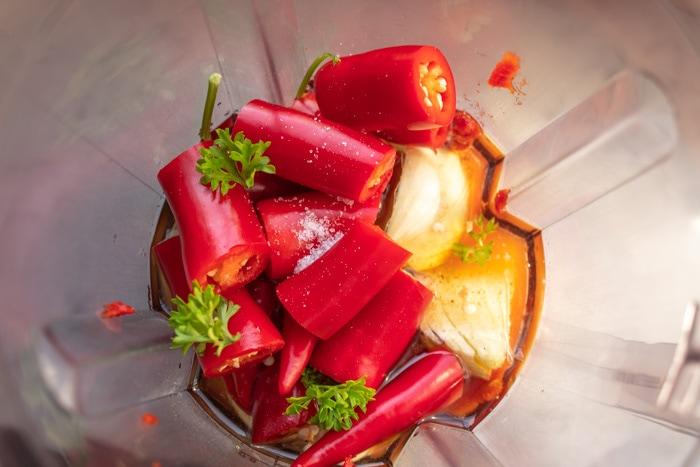 Homemade Brazilian chili sauce