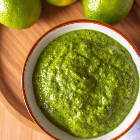 Brazilian chimichurri sauce with cilantro