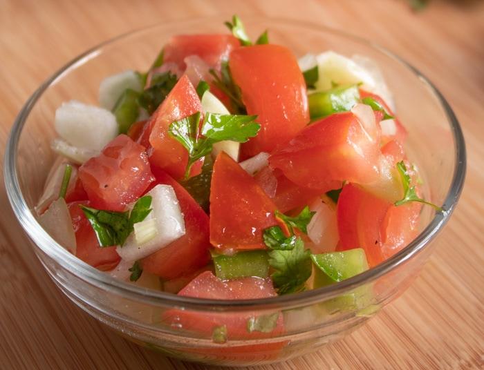 Brazilian vinaigrette salsa recipe