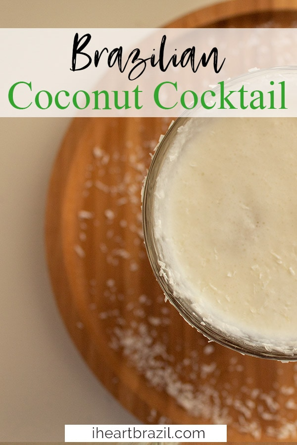 Coconut cocktail Pinterest graphic