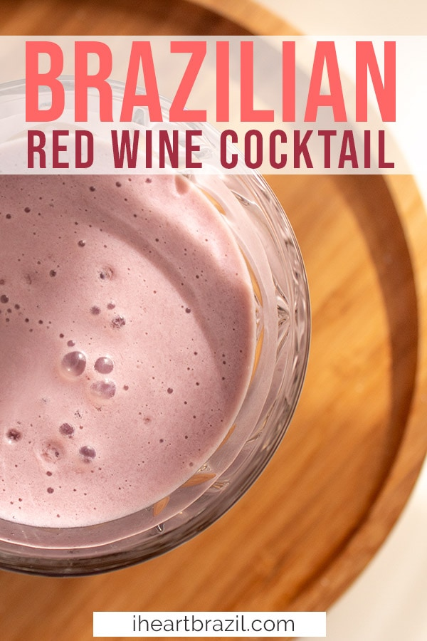 Red Wine cocktail Pinterest graphic