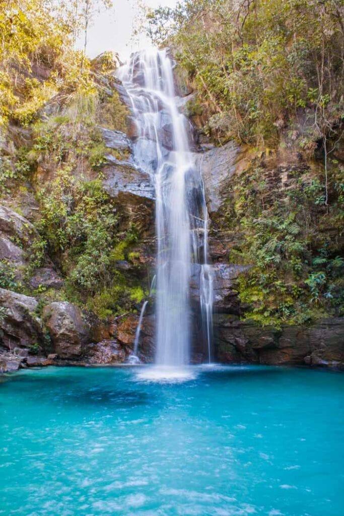 Santa Barbara Falls in Chapada dos Veadeiros, Goias