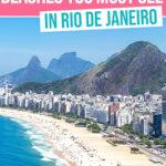 Rio de Janeiro beaches Pinterest graphic