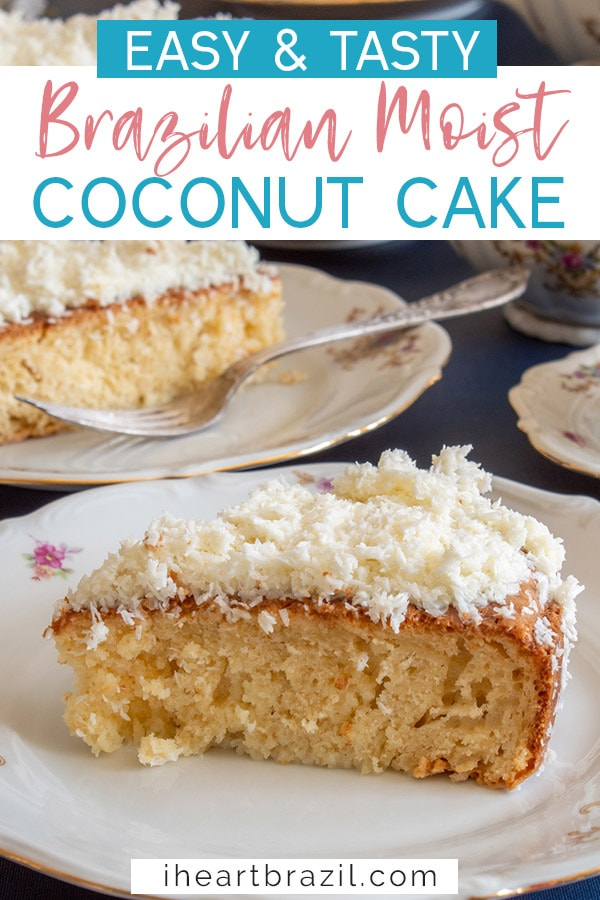 Brazilian coconut cake Pinterest graphic