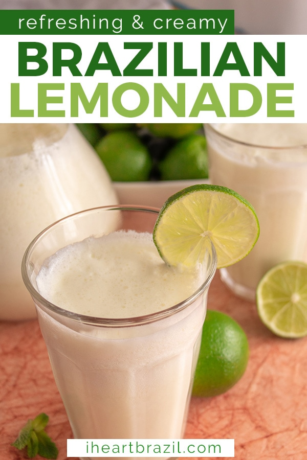 Brazilian lemonade recipe Pinterest graphic