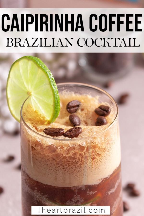 Caipirinha coffee Pinterest graphic