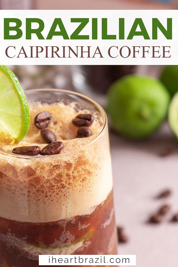 Caipirinha coffee Pinterest graphic