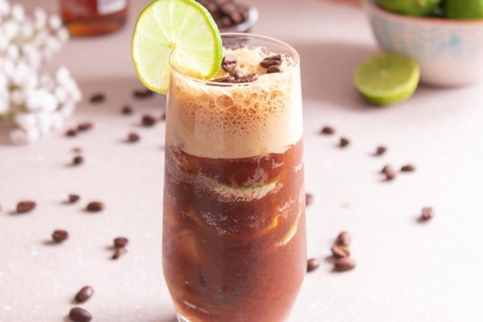 Caipirinha coffee drink with alcohol