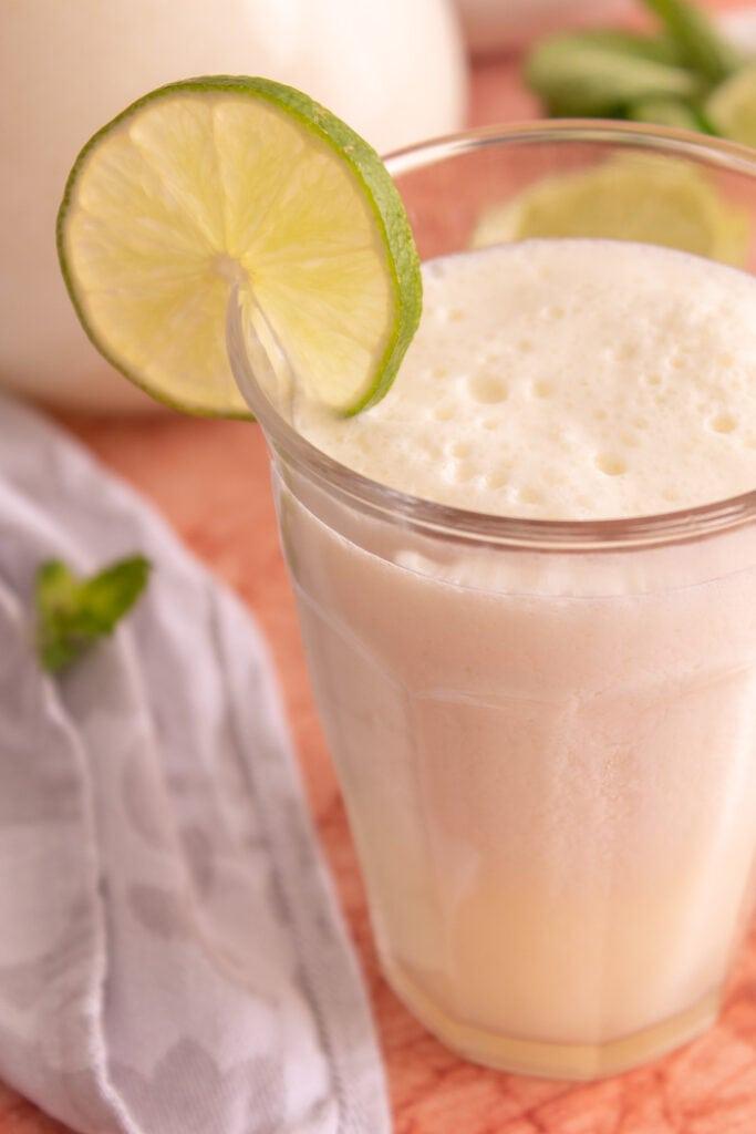 Brazilian lemonade with condensed milk