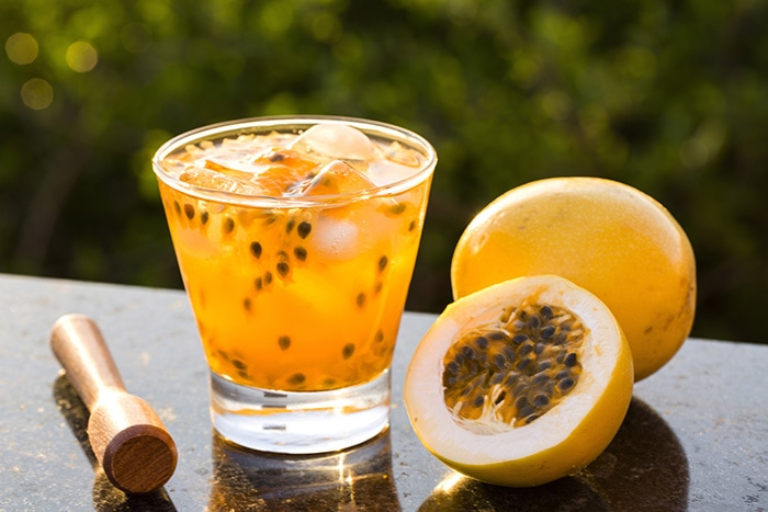 Passion fruit caipiroska