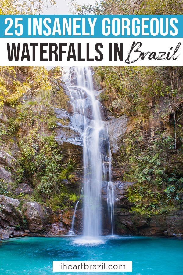 Brazil waterfalls Pinterest graphic