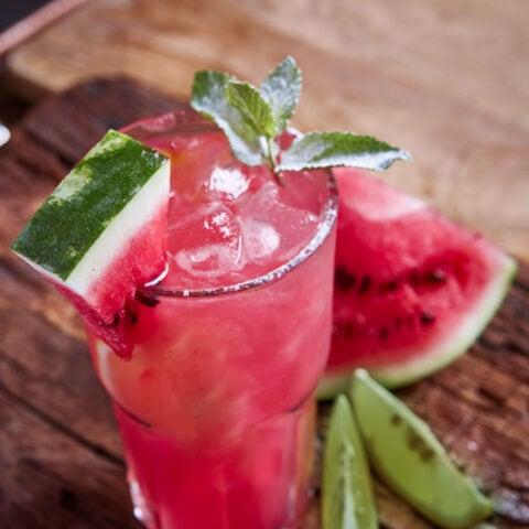 Watermelon caipiroska recipe
