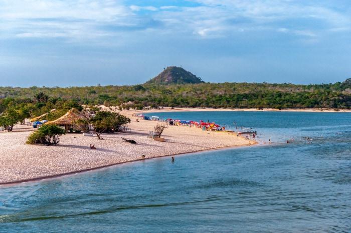 Alter do Chão Beach in Pará, Brazil
