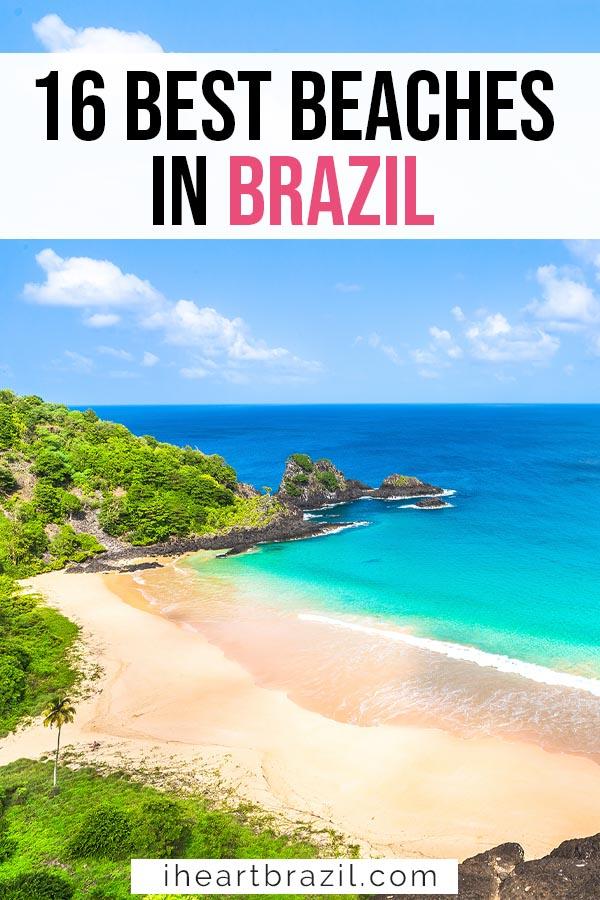 Beaches in Brazil Pinterest graphic