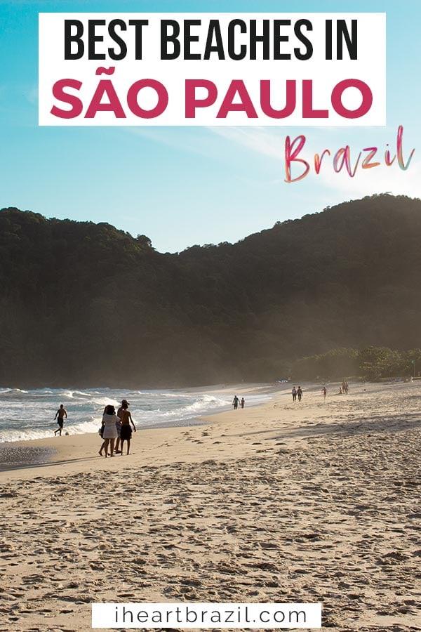 Beaches in Sao Paulo, Brazil Pinterest graphic