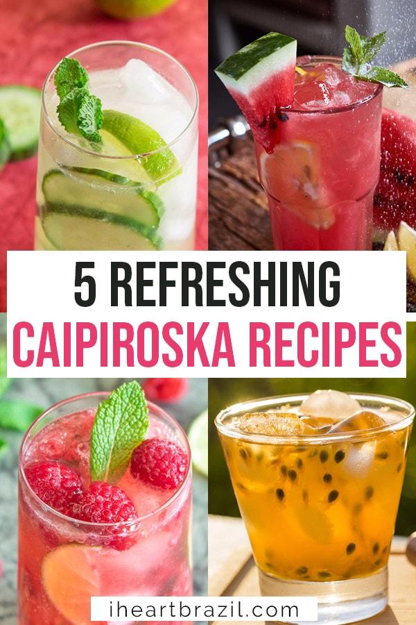 Best caipiroska recipes Pinterest graphic