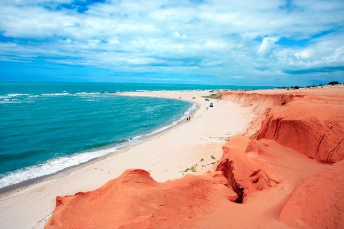 Canoa Quebrada Beach in Ceará, Brazil
