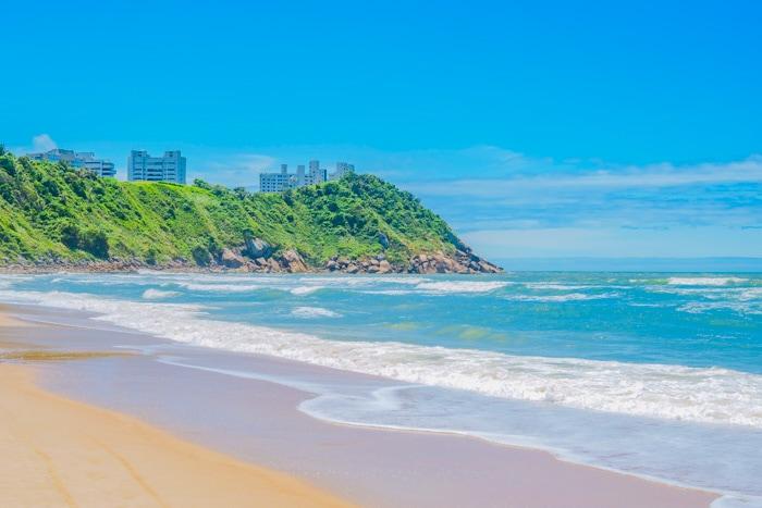 Tombo Beach in Guarujá, São Paulo