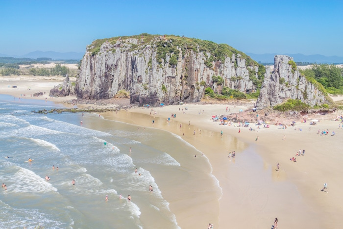 Guarita Beach in Torres, Rio Grande do Sul