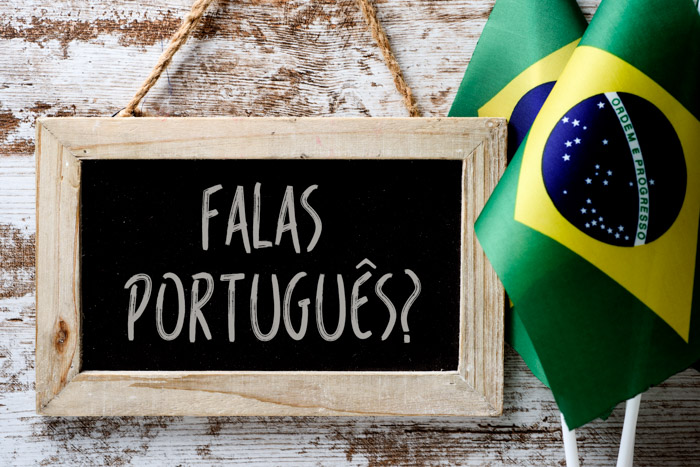 Brazilian Portuguese question on a board