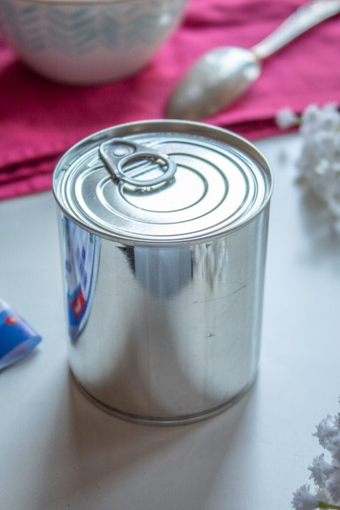 Can of sweetened condensed milk for dulce de leche
