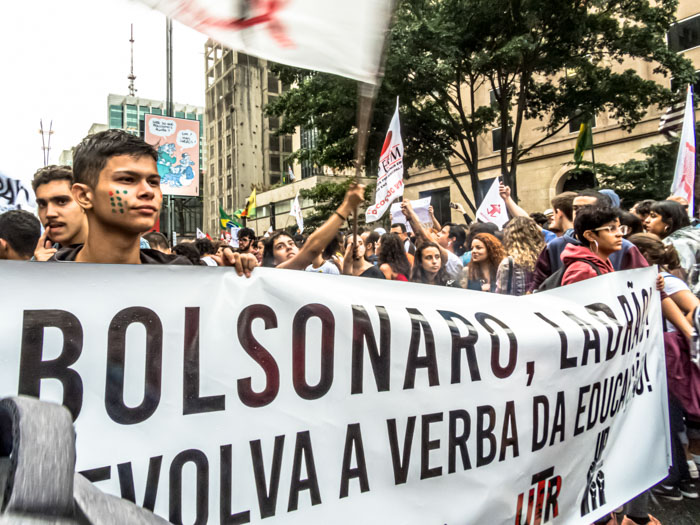 Protest in Brazil against Bolsonaro
