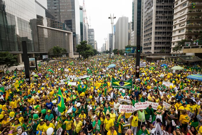 Protest in Brazil for Dilma's impeachment