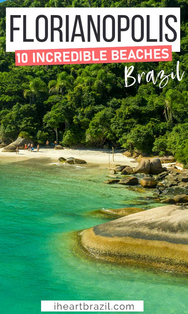 Beaches in Florianópolis Pinterest graphic