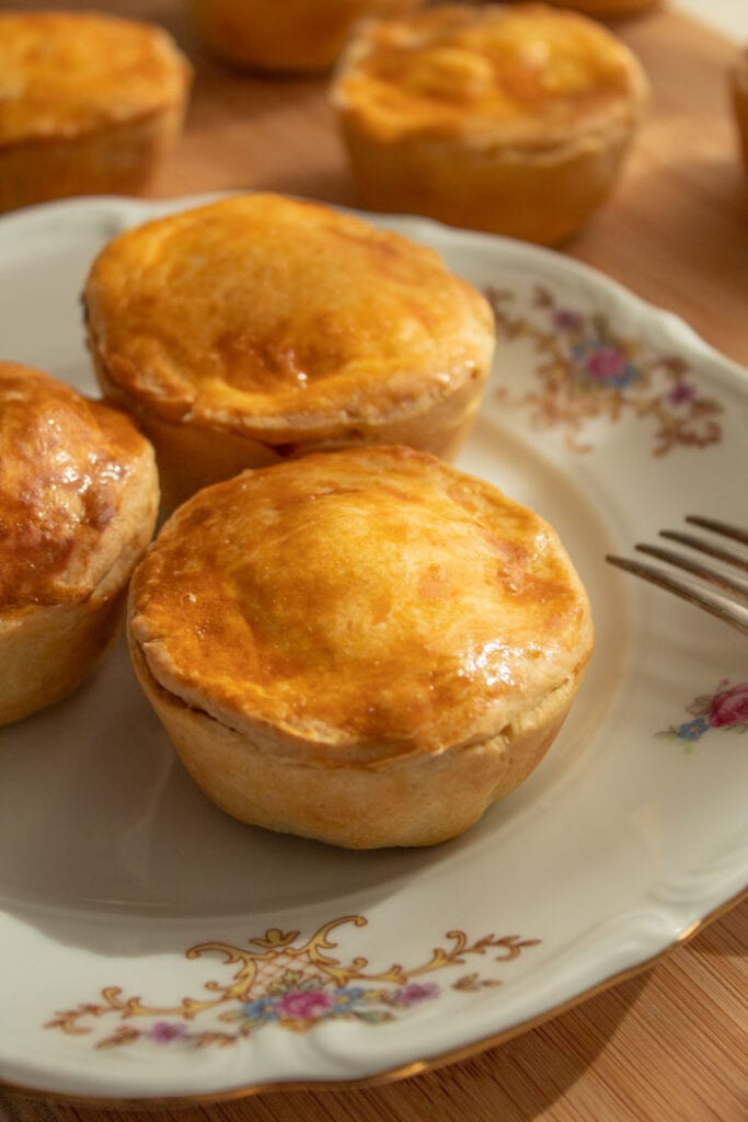 Savory hand pies with chicken filling