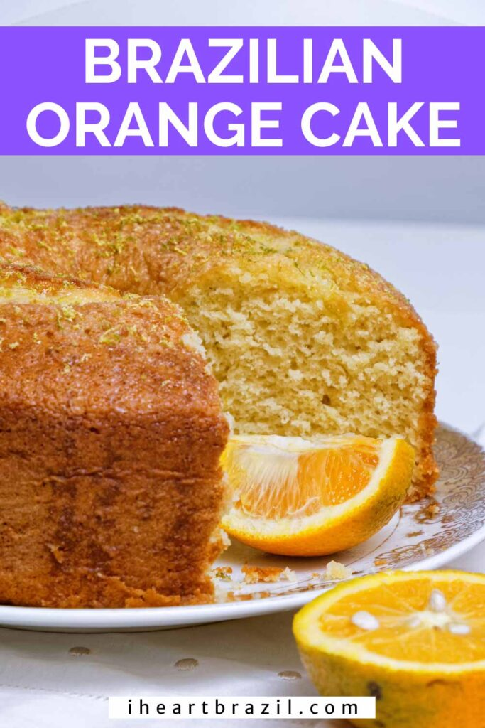 Brazilian orange cake Pinterest graphic