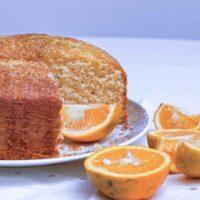 Brazilian orange cake closeup