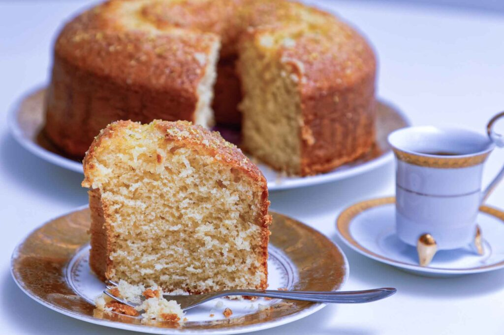 Brazilian orange cake slice